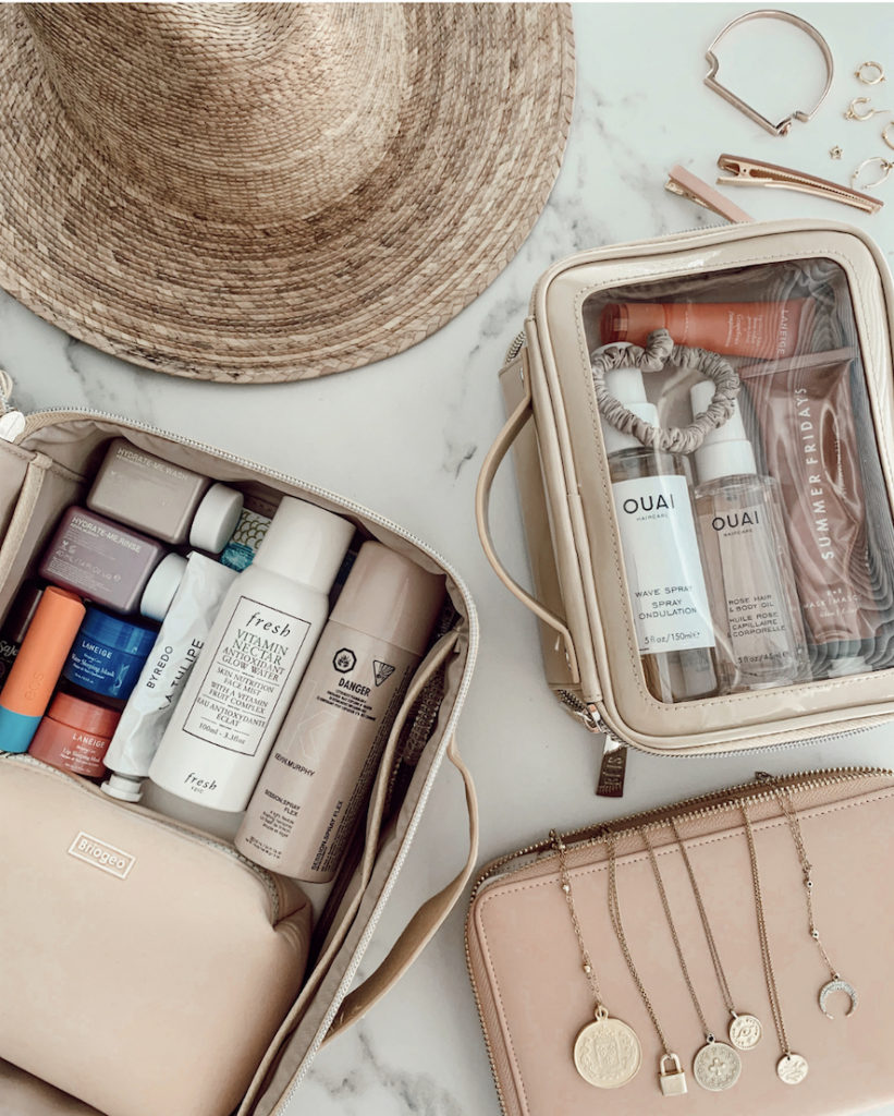 Lifestyle blogger Sydney Socias shares her packing solutions and tips on how to pack beauty products and dainty jewelry.