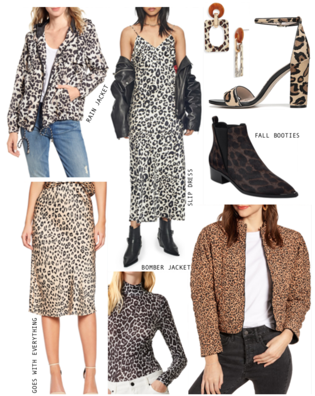 Leopard items trending this fall.