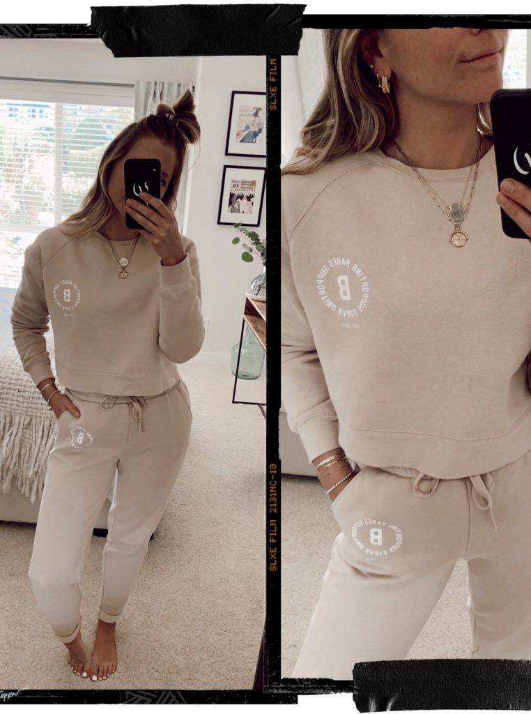 Brunette the label toasted almond sweat suit