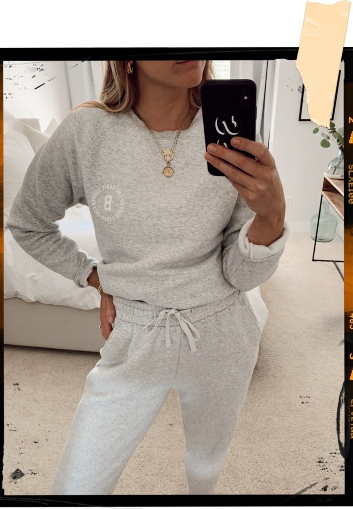 Brunette the label matching sweat set in grey